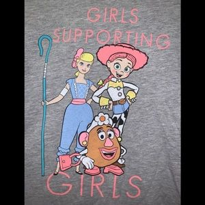 NWT Toy Story Girls Supporting Girls Tee